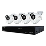 Night Owl Eight Channel HD Video Security DVR w/1 TB HDD and 4 Wired Infrared Cameras