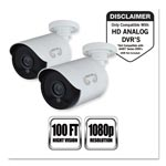 Night Owl Add-On HD Wired Security Bullet Cameras,1080p Resolution, 2/PK