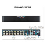 Night Owl 16 Channel Extreme HD 3MP DVR, 1080p Resolution