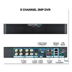 Night Owl 8 Channel Extreme HD 3MP DVR, 1080p Resolution