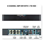 Night Owl 8 Channel Extreme HD 3MP DVR with 1 TB Hard Drive, 1080p Resolution