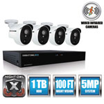 Night Owl 4 Channel Extreme HD Video Security DVR, 5MP Resolution