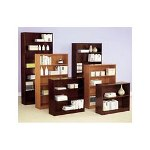"Alera Premium Grade Veneer Bookcase, Five Shelf, 60"" High, Mahogany"