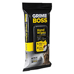Nice-Pak Grime Boss Hand and Surface Wipes, White, 8.2 x 9.8, 30/Pack