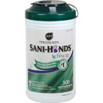 Nice-Pak Sani-Hands Wipes, 300 Wipes, 6/CT, White