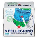 San Pellegrino Sparkling Natural Mineral Water, 1 Liter Bottle, 12/Carton
