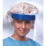 Medline Disposable Face Shields - Shield, Face, Full, Foam Top, Elastic