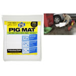 "PIG® Water-Repellent Oil-Absorbent Light-Weight Mat Tablet - 14"" x 14.25"" (15 Pads per Tablet)"