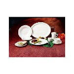 "Libbey NR-14 13.75"" Kingsmen White Ultima China Platter"