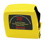 "SkilCraft Tape Measure w/Blade Lock, Heavy-Duty, 3/4"" x 25', Yellow Case"