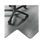 "SkilCraft Heavy-Duty Chairmat w/Single Lip, 45"" x 53"", Clear"