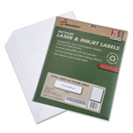 "SkilCraft File Folder Labels, Recycled, 15/16"" x 3-7/16"", 25 Sh/PK, White"