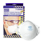 North Safety Products Dust And Mite Respirator, NIOSH/MSHA Rated, Adjust Nosepiece