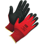 North Safety Products Safety Glove, Foamed PVC, Palm Coated, X-Large, Nylon, Red
