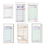 "National Check 3516 White One-Part Guest Checks, 3 1/2"" x 5 1/8"""