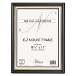 Nudell Plastics EZ Mount Document Frame, 8 1/2 x 11, Black, 18 Frames per Pack