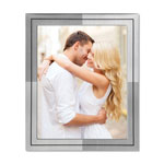 Nudell Plastics Metal Master Series Document and Photo Frame, 8 1/2 x 11, Pewter/Black Frame