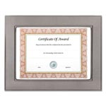 Nudell Plastics Gunmetal Document/Photo Frame, 8 1/2 x 11