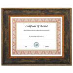 Nudell Plastics Executive Series Document and Photo Frame, 8 1/2 x 11, Brown Frame
