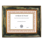 Nudell Plastics Executive Series Document and Photo Frame, 11 x 14, Brown Frame