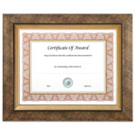 Nudell Plastics Executive Series Document and Photo Frame, 8 x 10, Gold Frame