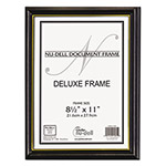 Nudell Plastics Black With Gold Stripe Deluxe Document Frames, Value Pack, 8.5X11