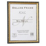 Nudell Plastics Deluxe Document Frame, 8 1/2 x 11, Gold