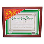 Nudell Plastics Award-A-Plaque Document Holder, 11 x 14, Mahogany
