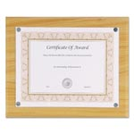 "Nudell Plastics Magnetic Series Woodgrain Plaque, Oak, 13""W, Rectangle"