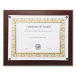 "Nudell Plastics Magnetic Series Woodgrain Plaque, Mahogany, 13""W, Rectangle"