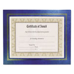 Nudell Plastics Leatherette Frame, 8 1/2 x 11, Blue, 2 per Pack