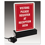 Nudell Plastics LED Lighted T-Sign, 8 1/2 x 11, Clear