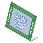 "Nudell Plastics Themed ""Safety First"" L-Shaped Sign Holder, Green/White/Clear, 11 x 8 1/2"