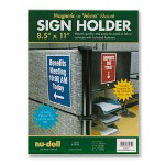 Nudell Plastics Acrylic Sign/Photo/Certificate Holder, All Purpose, 8 1/2w x 11h