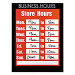 Nudell Plastics Clear Plastic Sign Holder with Business Hours Header, All-Purpose, 8 1/2 x 11