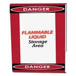 Nudell Plastics Clear Plastic Sign Holder with Danger Border, Red/Black/White, 8 1/2 x 11