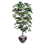 Nudell Plastics Artificial Ficus Tree, 1008 Leaves, 6 ft. Height