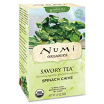 Numi Organic Savory Tea, Spinach Chive, Decaf, 12 Tea Bags/BX