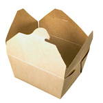 Fold-Pak BioEarth #1 Take Out Carton, Kraft