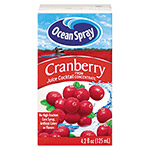 Ocean Spray Aseptic Juice Boxes, Cranberry, 4.2 oz, 40 per Carton