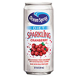 Ocean Spray Diet Sparkling Cranberry Juice, 12 oz. Can, 12 per Carton