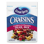Ocean Spray Craisins Trail Mix, Cranberry Chocolate, 8 oz Bag, 12/Carton