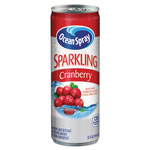 Ocean Spray Sparkling Cranberry Juice, 12 oz Can, 12/Carton