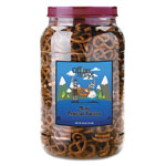 Office Snax Pretzel Assortment Old Fashioned Mini-Pretzel Twists, 40 oz Tub