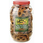 "Office Snax Giant ""Dutch"" Twist Sourdough Pretzels, 2 1/2 lb. Plastic Barrel"