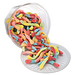 Office Snax Sour Neon Worms, Tub, 1.75 lb