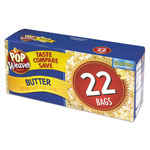 Office Snax Microwave Popcorn, Butter, 2.17oz Bag, 22/Box