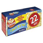 Office Snax Microwave Popcorn, Light Butter, 2.5oz Bag, 22/Box