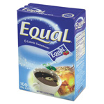 Office Snax Equal Zero Calorie Sweetener, 1 g Packet, 100 Packet/Box, 12 Box/Carton