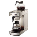 CoffeePro Two-Burner Institutional Coffeemaker,10/12 Cup, Stainless Steel,8.75x14.75x15.25